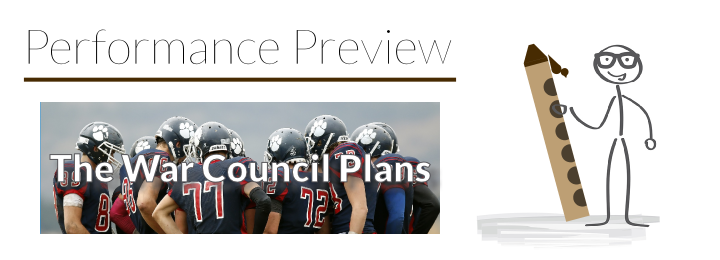 Performance Preview: Etude No. 5 – The War Council Plans