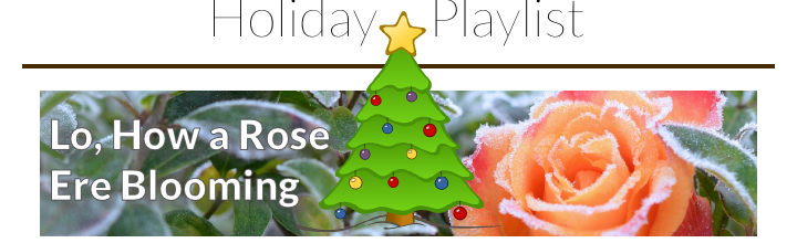 Holiday Playlist – Lo, How a Rose E're Blooming